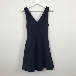 Anthropologie Maeve Navy Petite Dress